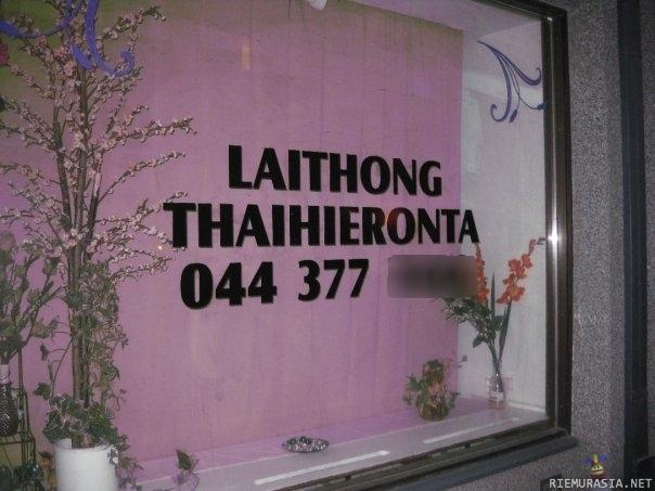 itsetyydytys thai hieroja