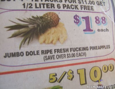 Dole ripe fresh fucking pineapples