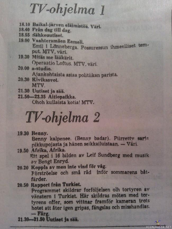 Tv- Ohjelmat