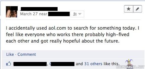 Musta ääniä AOL