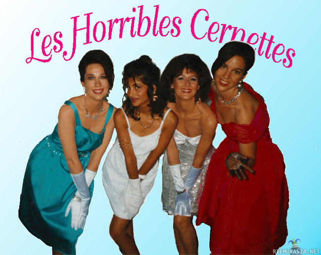 Internetin ensimmäinen kuva - This picture of Les Horribles Cernettes was the first photographic image to be published on the World Wide Web in 1992.