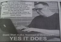 Norman the dickhead
