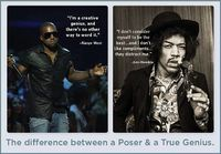 Difference between poser & true genius