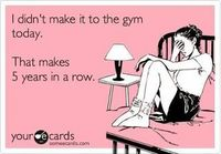 Didn´t make it to the gym