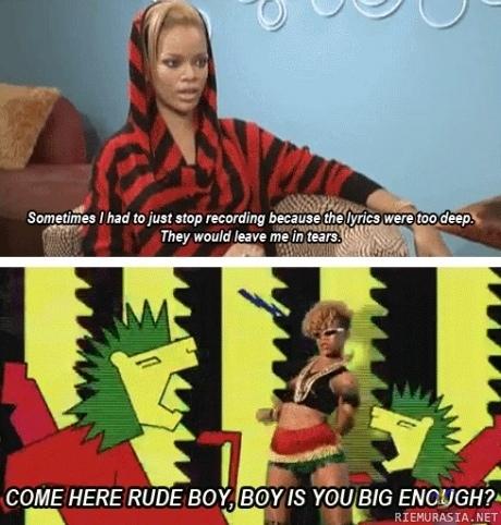 Rihanna iso pillua