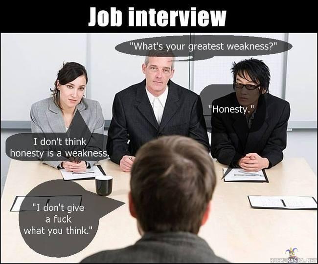 Heikkous Työhaastattelu