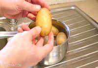 Nopeaa perunoiden kuorimista