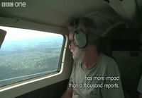 Uncontacted Amazon tribe filmed from a small plane